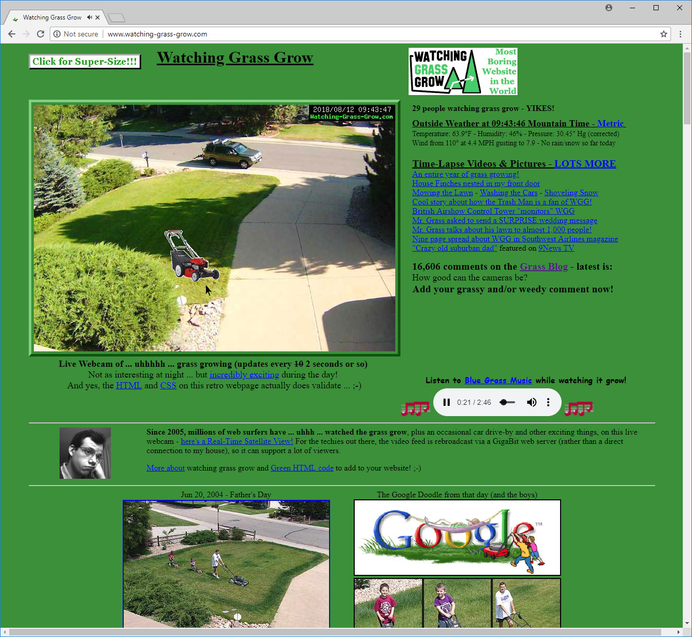 a3d08a96c1fa8 I just switched the main WGG webpage to a new layout that provides a bigger  image of the front lawn in preparation for bringing the Hi-Def camera  online ...
