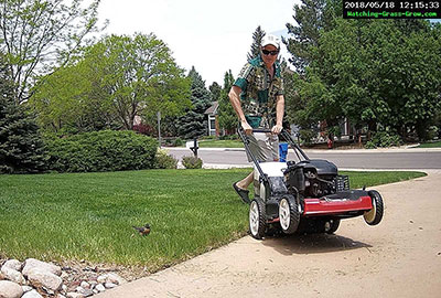 mower with robin