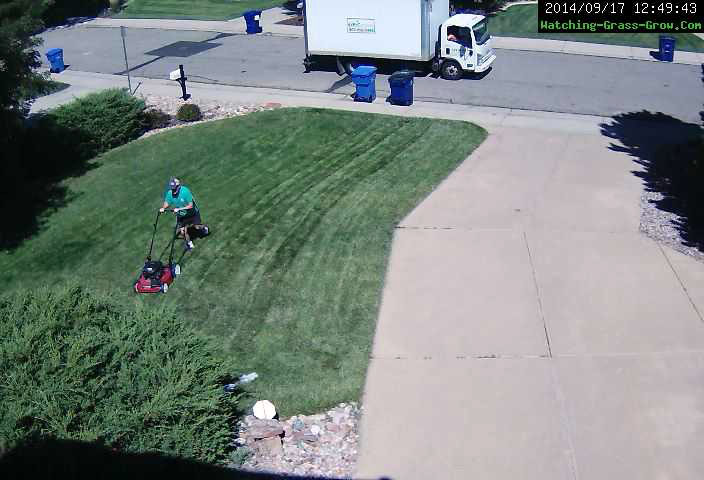 mowing lawn sep/2014