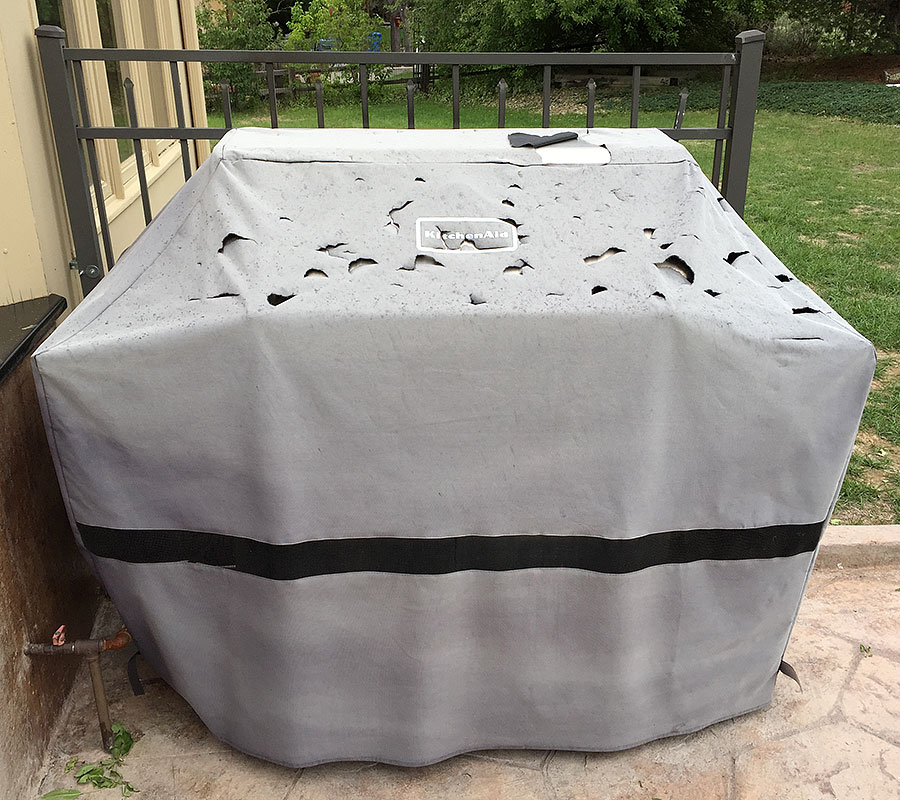 bbq grill cover hailstorm 1